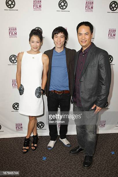 "Actress Eugenia Yuan, actor Jason Tobin, and actor Stanley Y attends the 2013 LA Asian Pacific Film Festival - opening night premiere of ""Linsanity""..."