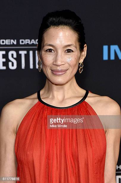 "Actress Eugenia Yuan attends the premiere of Netflix's ""Crouching Tiger, Hidden Dragon: Sword Of Destiny"" at AMC Universal City Walk on February 22,..."