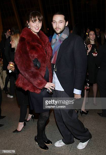 Actress Eva Amurri and designer Chris Benz attend the Blogmode Addressing Fashion reception at The Metropolitan Museum of Art on December 17 2007 in...
