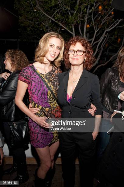 Actress Eva Amurri and mother Susan Sarandon attends the ESPiN NYC PreOscar Party at Mondrian LA's SKYBAR on March 4 2010 in West Hollywood California