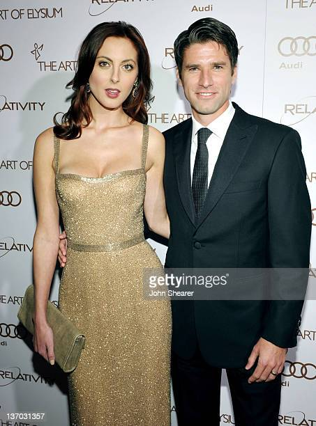 Actress Eva Amurri and soccer broadcaster Kyle Martino arrive at Audi presents The Art of Elysium's 5th annual HEAVEN at Union Station on January 14,...