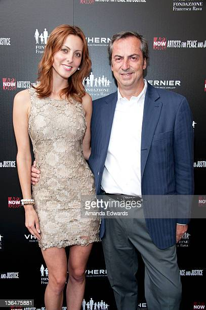 Actress Eva Amurri and Vhernier Jewels President Carlo Traglio arrive at the Artists for Peace and Justice 'A Ring to Educate a Child in Haiti'...