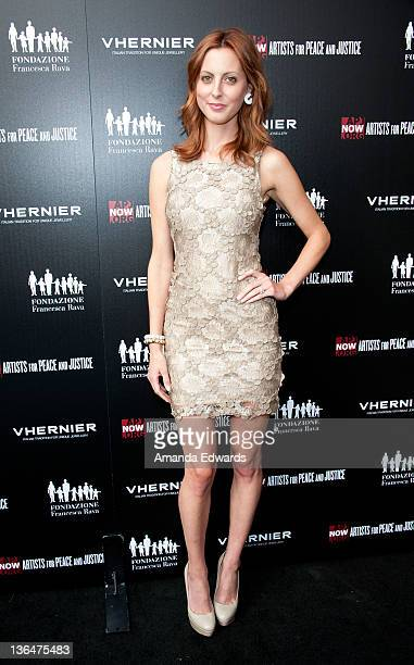 Actress Eva Amurri arrives at the Artists for Peace and Justice 'A Ring to Educate a Child in Haiti' launch event at Vhernier Beverly Hills on June...