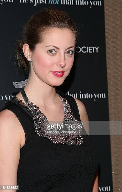 Actress Eva Amurri attends the Cinema Society Philosophy and Stardoll screening of He's Just Not That Into You at the Tribeca Grand Screening Room on...