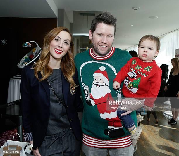 Actress Eva Amurri Bill Horn and Bosley Jo attend 2015 Santa's Secret Workshop Benefiting LA Family Housing at Andaz Hotel on December 5 2015 in Los...