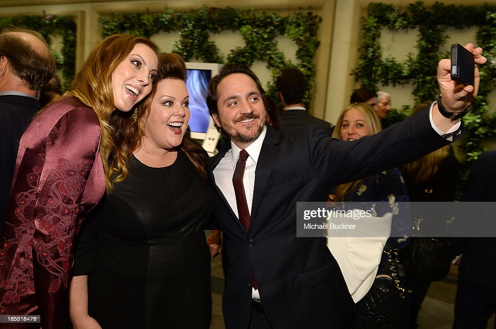Actress Eva Amurri, honoree Melissa McCarthy and actor Ben Falcone attend ELLE's 20th Annual Women In Hollywood Celebration at Four Seasons Hotel Los Angeles at Beverly Hills on October 21, 2013 in Beverly Hills, California.