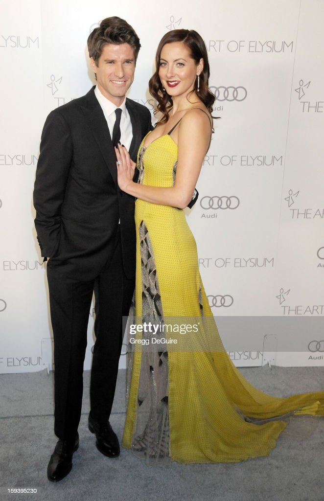 Actress Eva Amurri Martino (R) and husband Kyle Martino arrive at The Art of Elysium's Heaven Gala at 2nd Street Tunnel on January 12, 2013 in Los Angeles, California.
