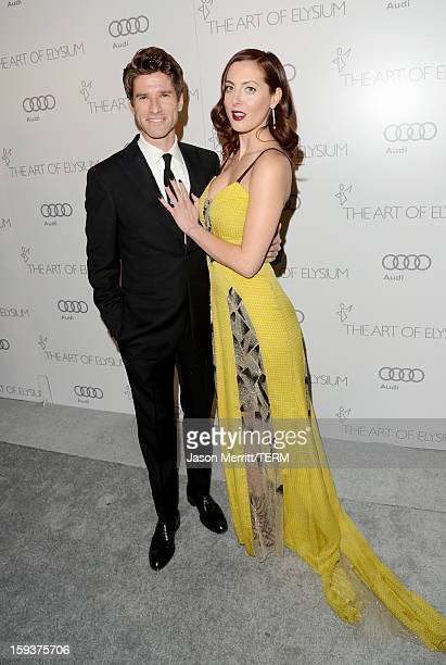 Actress Eva Amurri Martino and TV personality Kyle Martino attend The Art of Elysium's 6th Annual HEAVEN Gala presented by Audi at 2nd Street Tunnel...