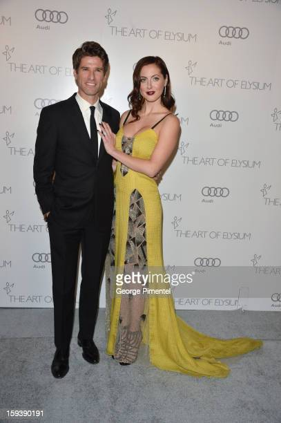 Actress Eva Amurri Martino and TV personality Kyle Martino attends The Art of Elysium's 6th Annual HEAVEN Gala presented by Audi at 2nd Street Tunnel...