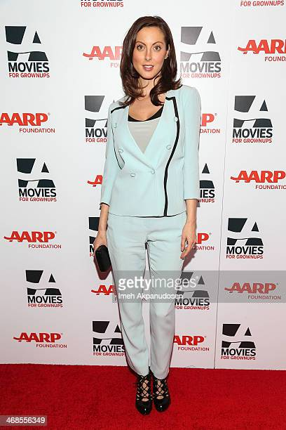 Actress Eva Amurri Martino attends the 13th Annual AARP's Movies For Grownups Awards Gala at Regent Beverly Wilshire Hotel on February 10 2014 in...