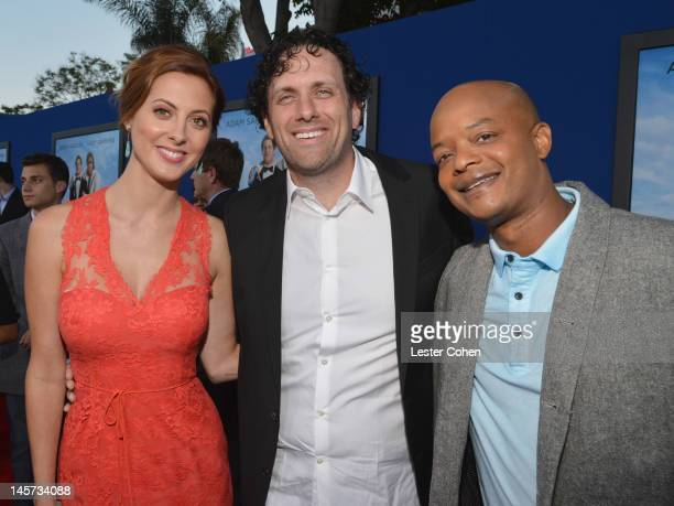 Actress Eva Amurri Martino Director/Writer Sean Anders and actor Todd Bridges arrive at the Los Angeles premiere of That's My Boy held at Regency...