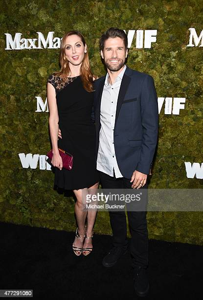 Actress Eva Amurri Martino wearing Max Mara and and former soccer player Kyle Martino attend The Max Mara 2015 Women In Film Face Of The Future event...