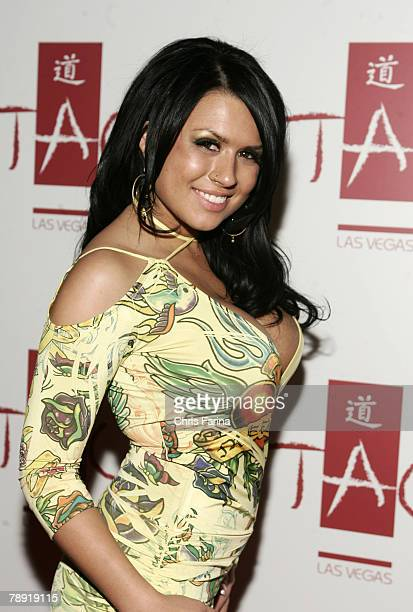 Actress Eva Angelina arrives at a naughty night to remember at TAO Nightclub at The Venetian Hotel and Casino Resort on January 12 2008 in Las Vegas...