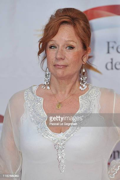 Actress Eva Darlan arrives for the opening night of the 2011 Monte Carlo Television Festival held at Grimaldi Forum on June 6 2011 in MonteCarlo...