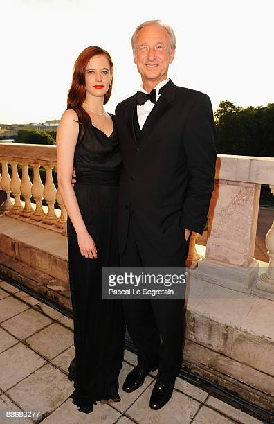 Actress Eva Green and Lutz Bethge CEO of Montblanc International attend the Montblanc White Nights Festival Reception and Gala Dinner at the...