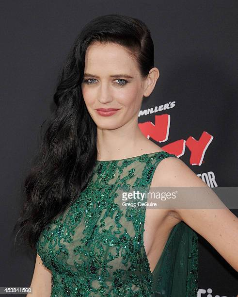 Actress Eva Green arrives at the Los Angeles premiere of Sin City A Dame To Kill For at TCL Chinese Theatre on August 19 2014 in Hollywood California