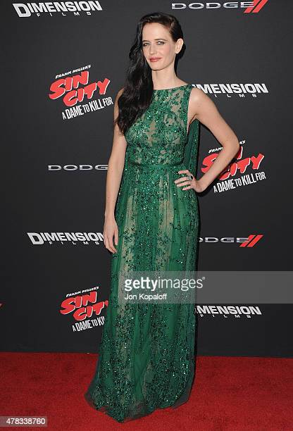 HOLLYWOOD CA Actress Eva Green arrives at the Los Angeles Premiere 'Sin City A Dame To Kill For' at TCL Chinese Theatre on August 19 2014 in...
