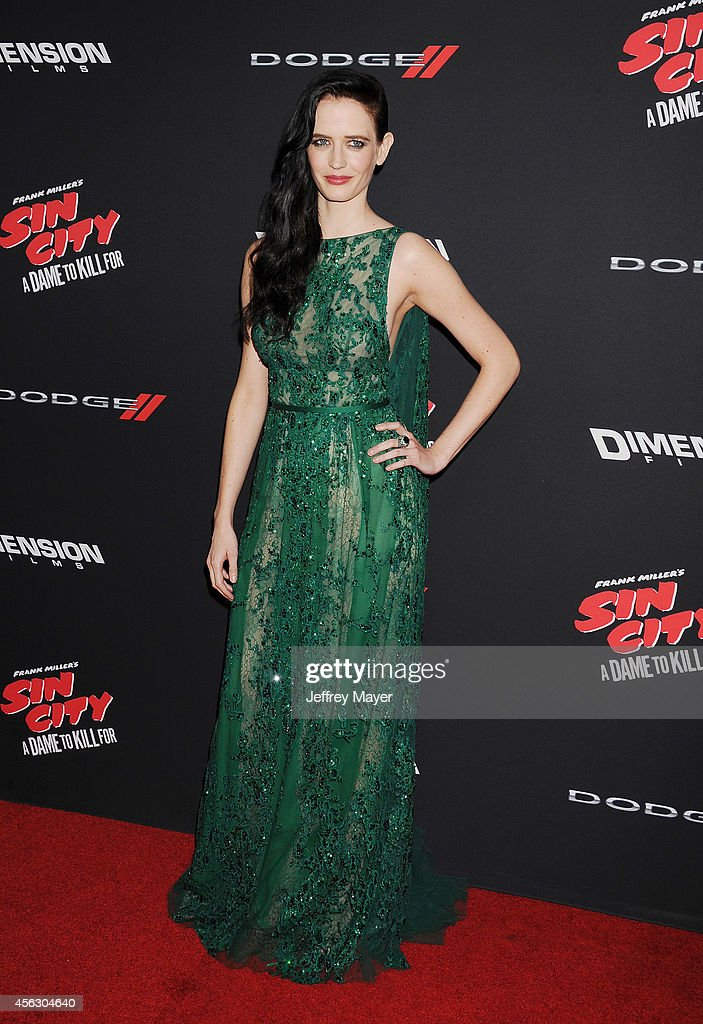 Actress Eva Green arrives at the 'Sin City: A Dame To Kill For' - Los Angeles Premiere at TCL Chinese Theatre on August 19, 2014 in Hollywood, California.