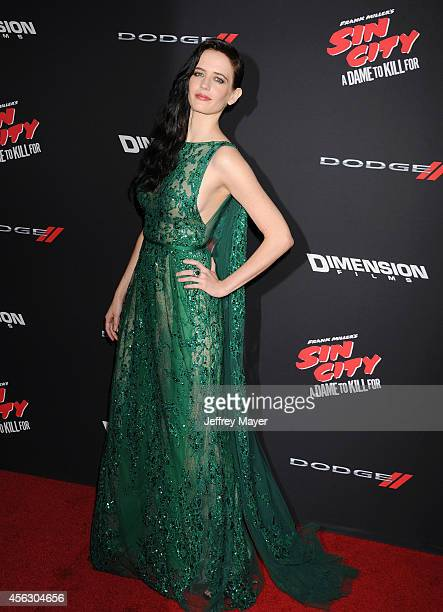 Actress Eva Green arrives at the 'Sin City A Dame To Kill For' Los Angeles Premiere at TCL Chinese Theatre on August 19 2014 in Hollywood California