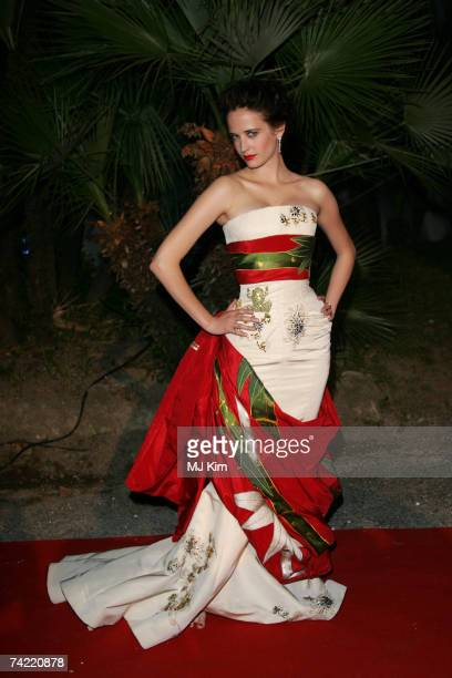 Actress Eva Green arrives for the New Line Cinema 40th Anniversary Golden Compass Party during the 60th Cannes Film Festival on May 22, 2007 in...