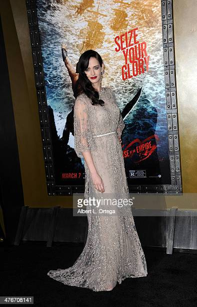 Actress Eva Green arrives for the Premiere Of Warner Bros Pictures And Legendary Pictures' '300 Rise Of An Empire' held at TCL Chinese Theatre on...