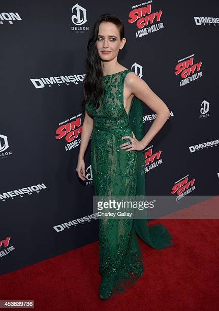 """Actress Eva Green attends """"SIN CITY: A DAME TO KILL FOR"""" premiere presented by Dimension Films in partnership with Time Warner Cable, Dodge and..."""