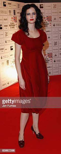 Actress Eva Green attends the British Independent Film Awards at the Old Billingsgate Market on November 30 2008 in London England