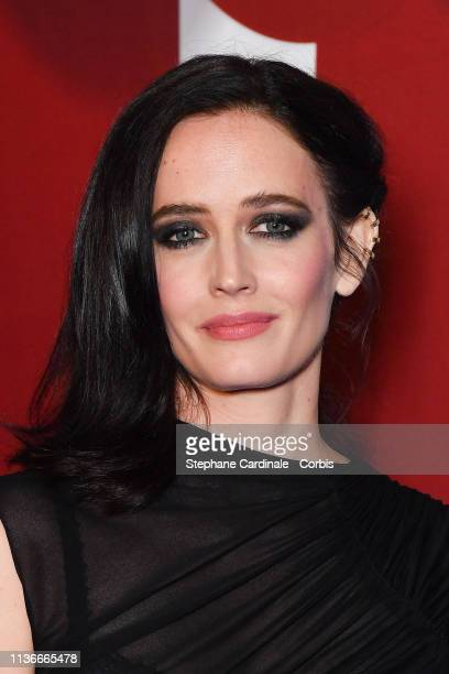 """Actress Eva Green attends the """"Dumbo"""" Paris Gala Screening at Cinema Le Grand Rex on March 18 2019 in Paris France"""