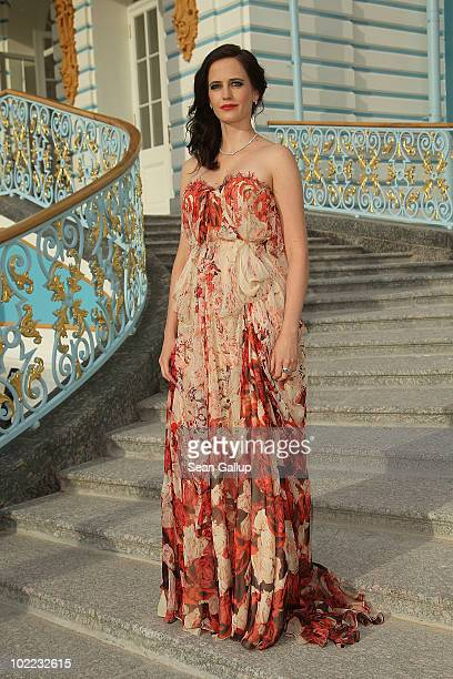 Actress Eva Green attends the Mariinsky Ball of Montblanc White Nights Festival at Catherine Palace on June 19 2010 in Pushkin near Saint Petersburg...