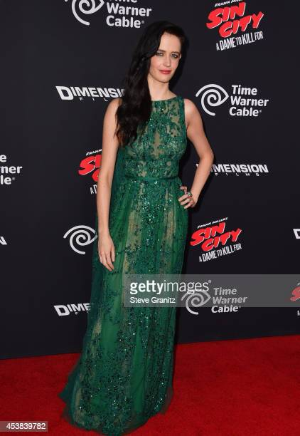 Actress Eva Green attends the 'Sin City A Dame To Kill For' Los Angeles premiere at TCL Chinese Theatre on August 19 2014 in Hollywood California