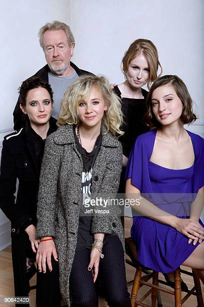 Actress Eva Green director Ridley Scott actress Juno Temple director Jordan Scott and actress Maria Valverde pose for a portrait during the 2009...