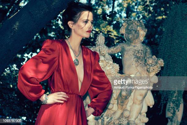 Actress Eva Green poses at a fashion shoot for Madame Figaro on June 27 2018 in Paris France Dress necklace and bracelet PUBLISHED IMAGE CREDIT MUST...