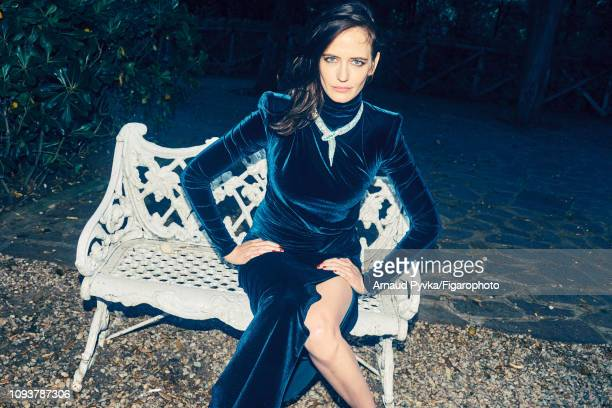 Actress Eva Green poses at a fashion shoot for Madame Figaro on June 27 2018 in Paris France Dress necklace PUBLISHED IMAGE CREDIT MUST READ Arnaud...