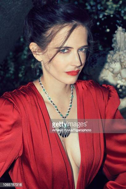Actress Eva Green poses at a fashion shoot for Madame Figaro on June 27 2018 in Paris France Dress necklace and bracelet CREDIT MUST READ Arnaud...