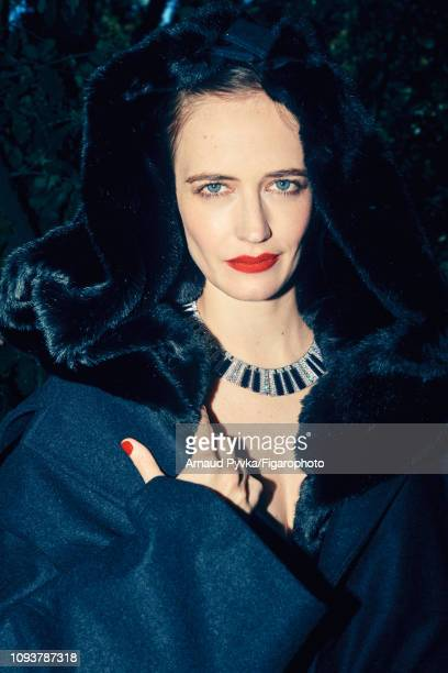 Actress Eva Green poses at a fashion shoot for Madame Figaro on June 27 2018 in Paris France Coat necklace CREDIT MUST READ Arnaud...