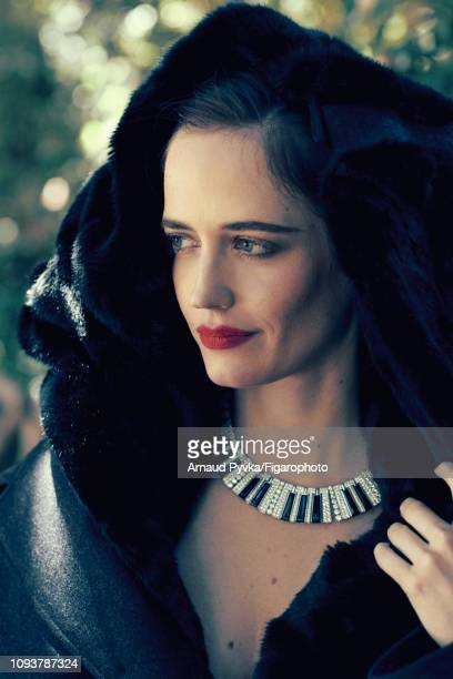 Actress Eva Green poses at a fashion shoot for Madame Figaro on June 27 2018 in Paris France Coat necklace PUBLISHED IMAGE CREDIT MUST READ Arnaud...