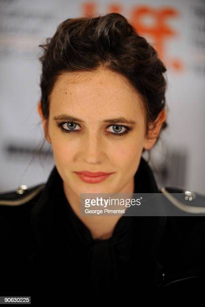 """Actress Eva Green speaks onstage at the """"Cracks"""" press conference held at the Sutton Place Hotel on September 12, 2009 in Toronto, Canada."""
