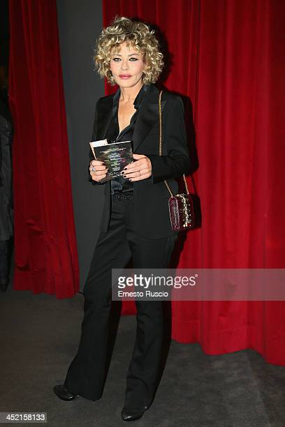 Actress Eva Grimaldi attends the End Of The Rainbow opening night at Teatro Eliseo on November 26 2013 in Rome Italy