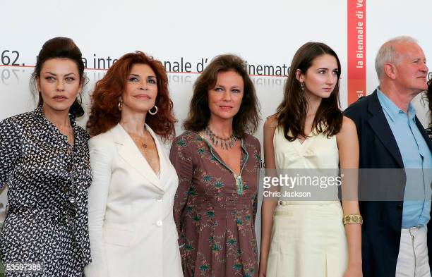 Actress Eva Grimaldi Ida Di Benedetto Jacquline Bisset Hannah Taylor Gordon and director John Irvin pose at the Photocall for out of competition film...