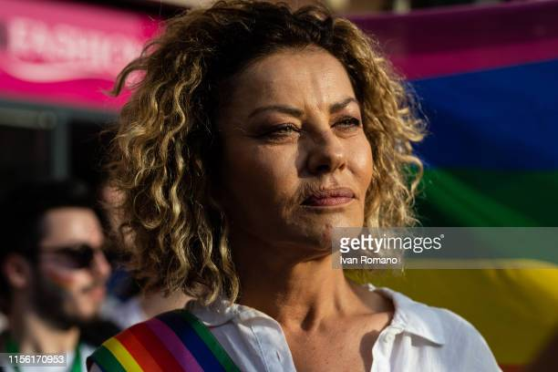 Actress Eva Grimaldi LGBT activist during Avellino Pride 2019 on June 15 2019 in Atripalda Italy Abellinum Pride 2019 People Have The Power is the...