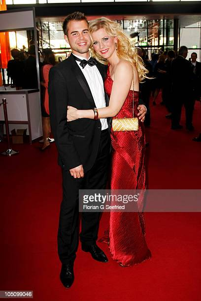 Actress Eva Habermann and boyfriend Ludwig Hacker attend the German TV Award 2010 at Coloneum on October 9 2010 in Cologne Germany