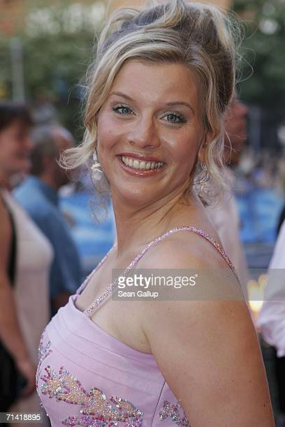 """Actress Eva Habermann arrives for the German premiere of """"Poseidon"""" July 11, 2006 at the Berlinale Palast in Berlin, Germany."""