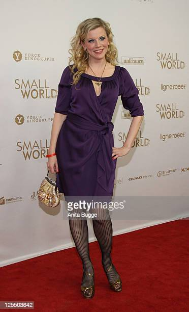 Actress Eva Habermann attends the 'Small World' premiere at Cinema Paris movie theater on December 1, 2010 in Berlin, Germany.