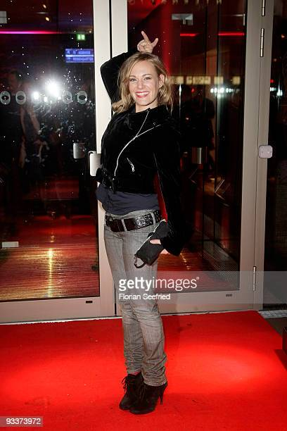 Actress Eva Hassmann attends the afterparty for the premiere 'Zweiohrkueken' at Cafe Moskau on November 24, 2009 in Berlin, Germany.