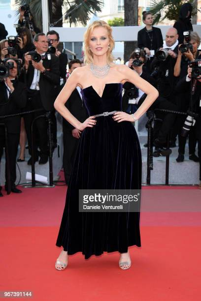 Actress Eva Herzigova attends the screening of 'Ash Is The Purest White ' during the 71st annual Cannes Film Festival at Palais des Festivals on May...
