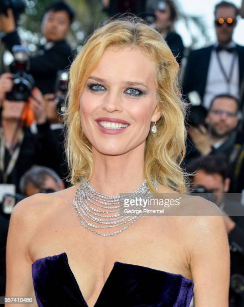 Actress Eva Herzigova attends the screening of Ash Is The Purest White during the 71st annual Cannes Film Festival at Palais des Festivals on May 11...