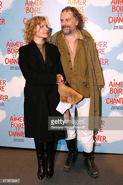 Actress Eva Ionesco and her husband Simon Liberati attend the 'Aimer Boire Et Chanter' Paris movie premiere Held at Cinema UGC Normandie on March 10...