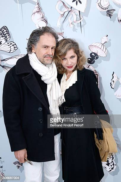 Actress Eva Ionesco and her husband writer Simon Liberati attend the Schiaparelli Haute Couture Spring Summer 2016 show as part of Paris Fashion Week...