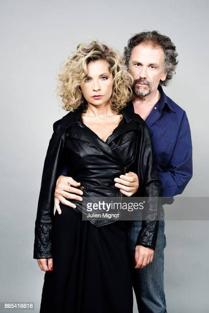 Actress Eva Ionesco and journalist Simon Liberati are photographed for ELLE Magazine on August 2015 in Paris France