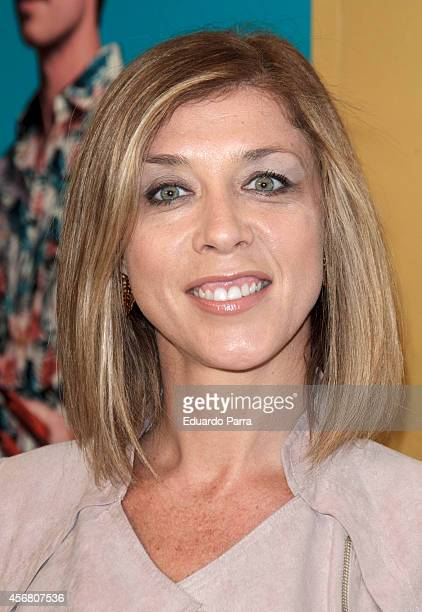Actress Eva Isanta attends 'Al final de la carretera' premiere photocall at Fernando Fernan Gomez theatre on October 7 2014 in Madrid Spain